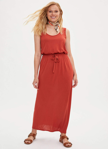 DeFacto Elbise Oranj